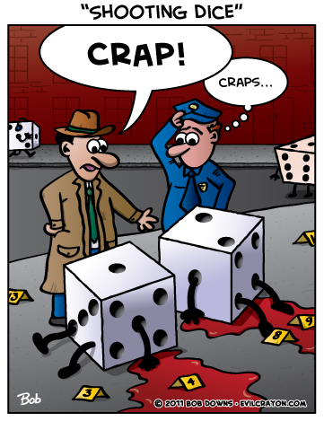 """Shooting Dice"" by Evil Crayon"