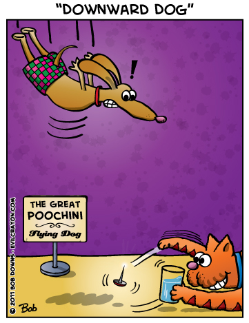 """Downward Dog"" by Evil Crayon"