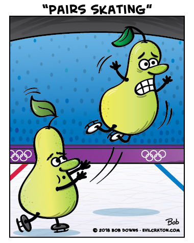 """Pairs Skating"" by Evil Crayon"