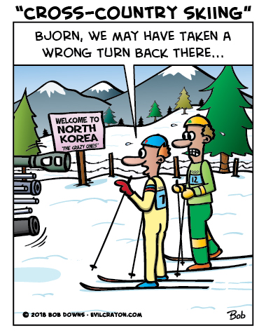 """Cross-Country Skiing"" by Evil Crayon"