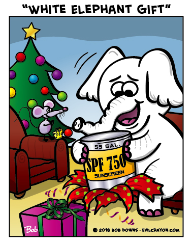 """White Elephant Gift"" by Evil Crayon"