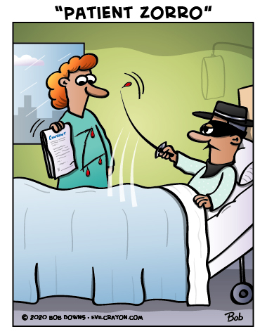 """Patient Zorro"" by Evil Crayon"