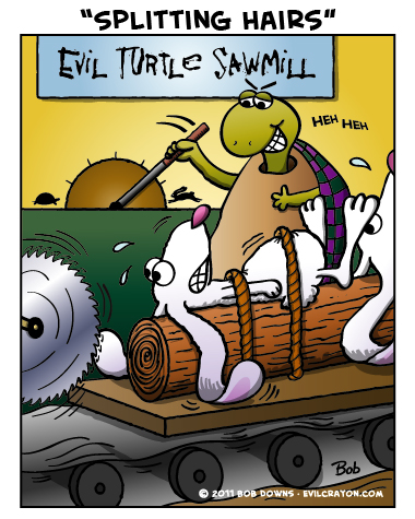 """""""Splitting Hairs"""" by Evil Crayon"""