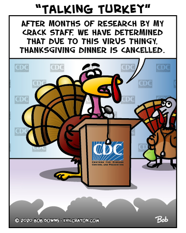 """Talking Turkey"" by Evil Crayon"