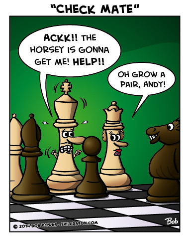 """""""Check Mate"""" by Evil Crayon"""