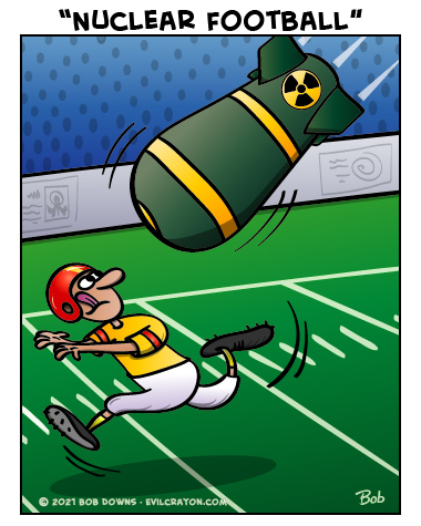 """Nuclear Football"" by Evil Crayon"